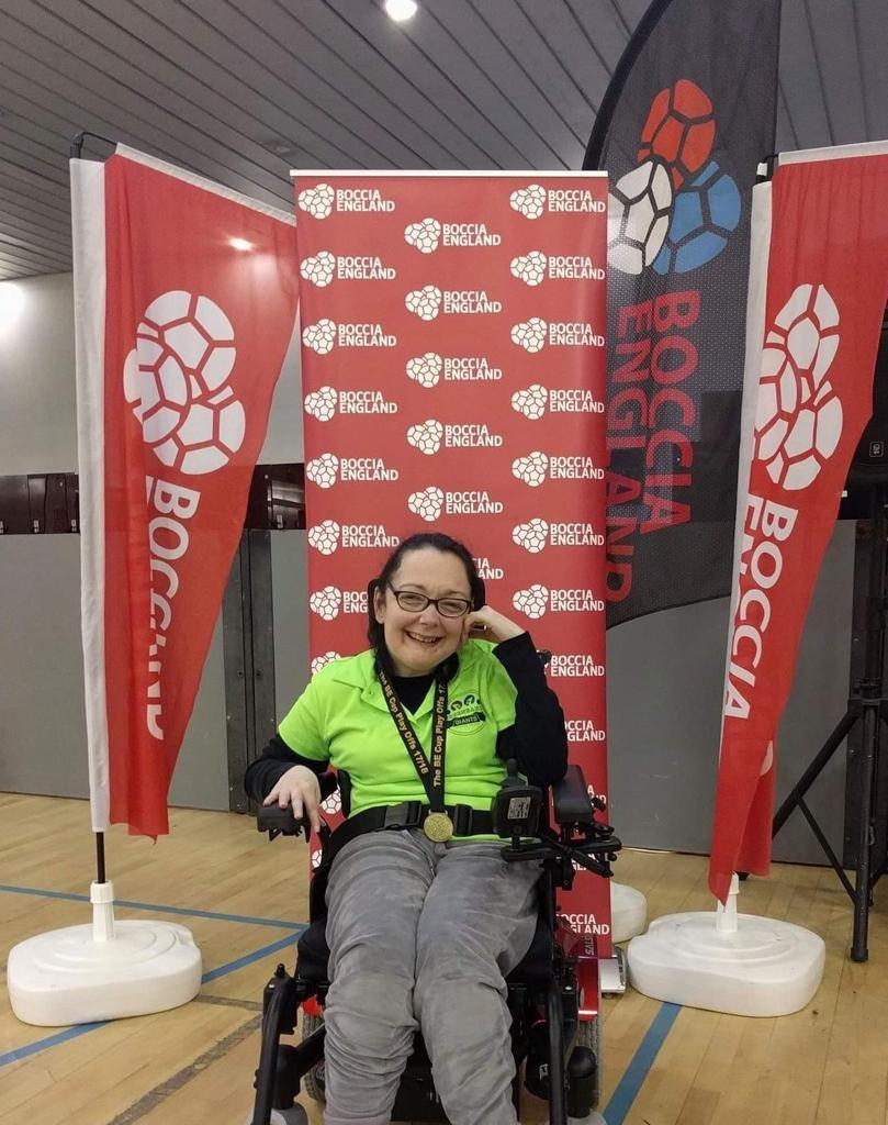 Meet Boccia player Caroline who competed against world champion at British Championships