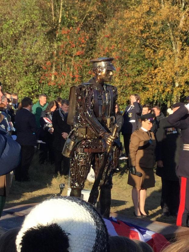 The statue at its unveiling last October