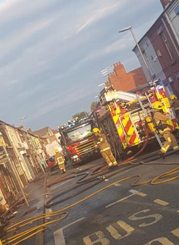 Firefighters were sent to Junction Lane in Sutton Pic: Michelle Galavan