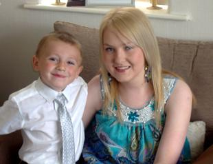 Kirsty Winstanley with her son Aiden earlier this year.