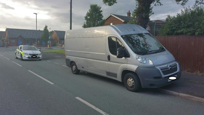 The vehicle was stopped by officers Pic: St Helens Police