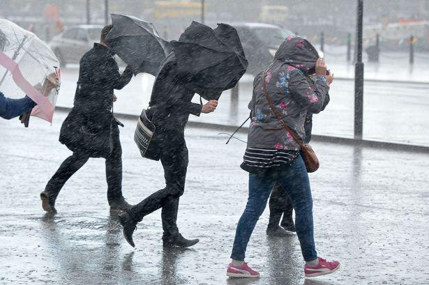 Forecasters have issued a yellow warning for between 8am and 10pm