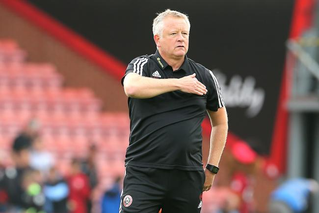 Sheffield United manager Chris Wilder celebrates with the crowd after his side's victory