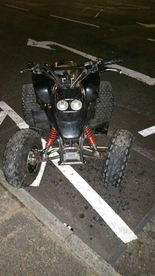The off road bike that was seized by police