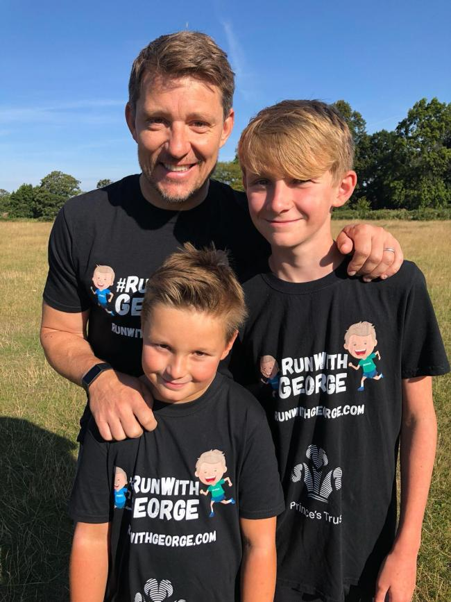 George and James with TV presenter Ben Shephard