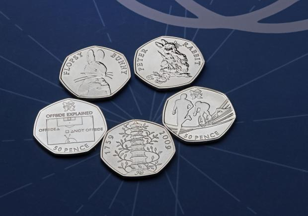 St Helens Star: The rarest 50p coins. Credit: Royal Mint/PA Wire
