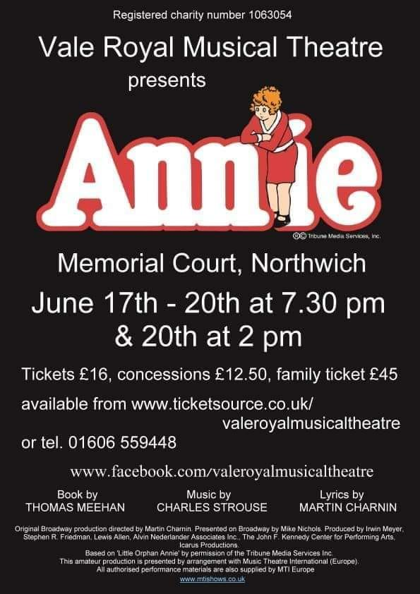 Vale Royal Musical Theatre present Annie