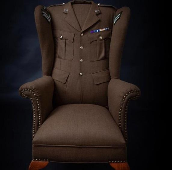 War veteran Andy Reid's is inviting residents to see chair made up of his uniform 10 years since his injuries on Remembrance Sunday