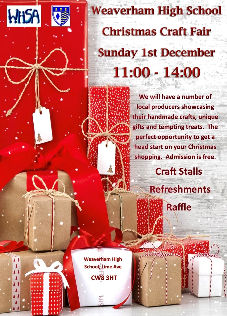 Weaverham High School Christmas Craft Fair