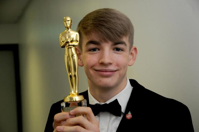 Jacob Kelly, winner of the Young Sportsperson award