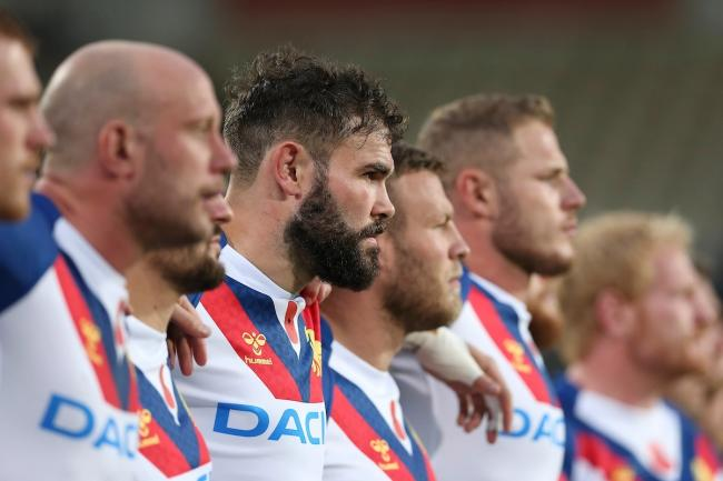 Great Britain Lions ahead of the test match. Picture: Martin Hunter / www.photosport.nz