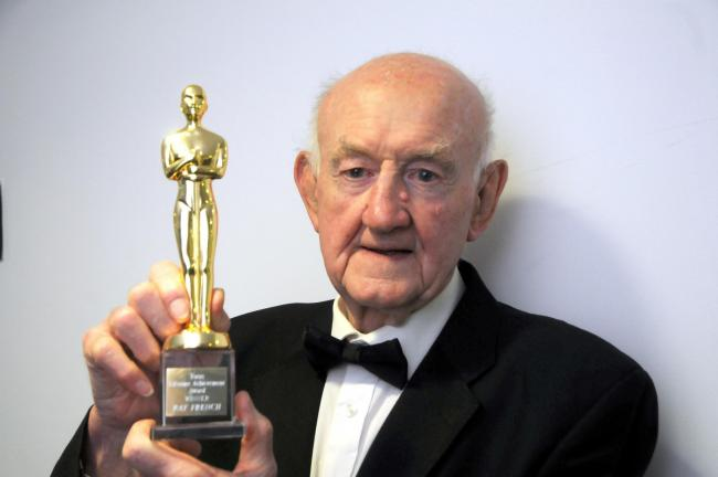Ray French with his Lifetime Achievement award