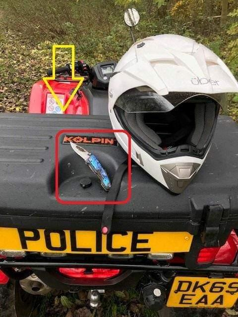 Lock knife seized after being found in woodland