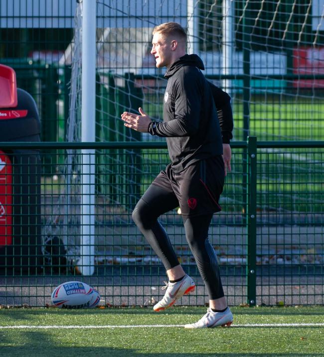 Matty Lees in training. Picture: Bernard Platt