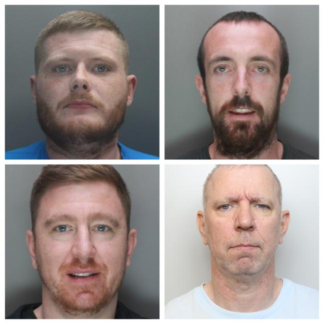 These four men have been jailed for renting properties to grow and supply cannabis