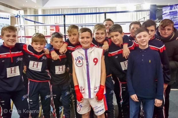 Caden Hughes pictured Centre. Awarded Boxer of the Night  Picture: Chris Kearns