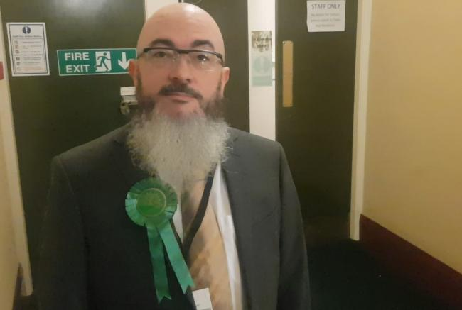 David van der Burg, Green Party candidate for St Helens North