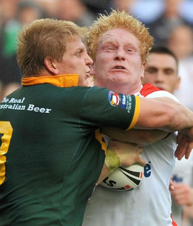 James Graham in action for England.