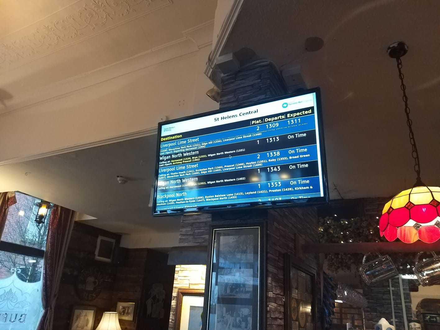 Royal Alfred installs real time train information
