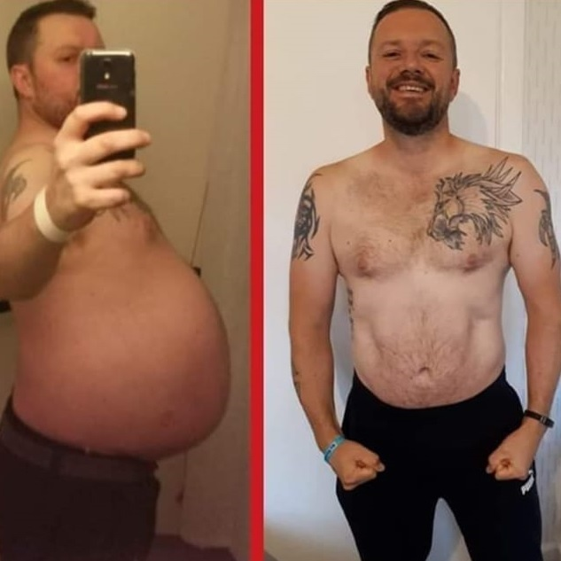 Dad who lived off fast food and booze after going through tragedy lost 9 stone after turning his life