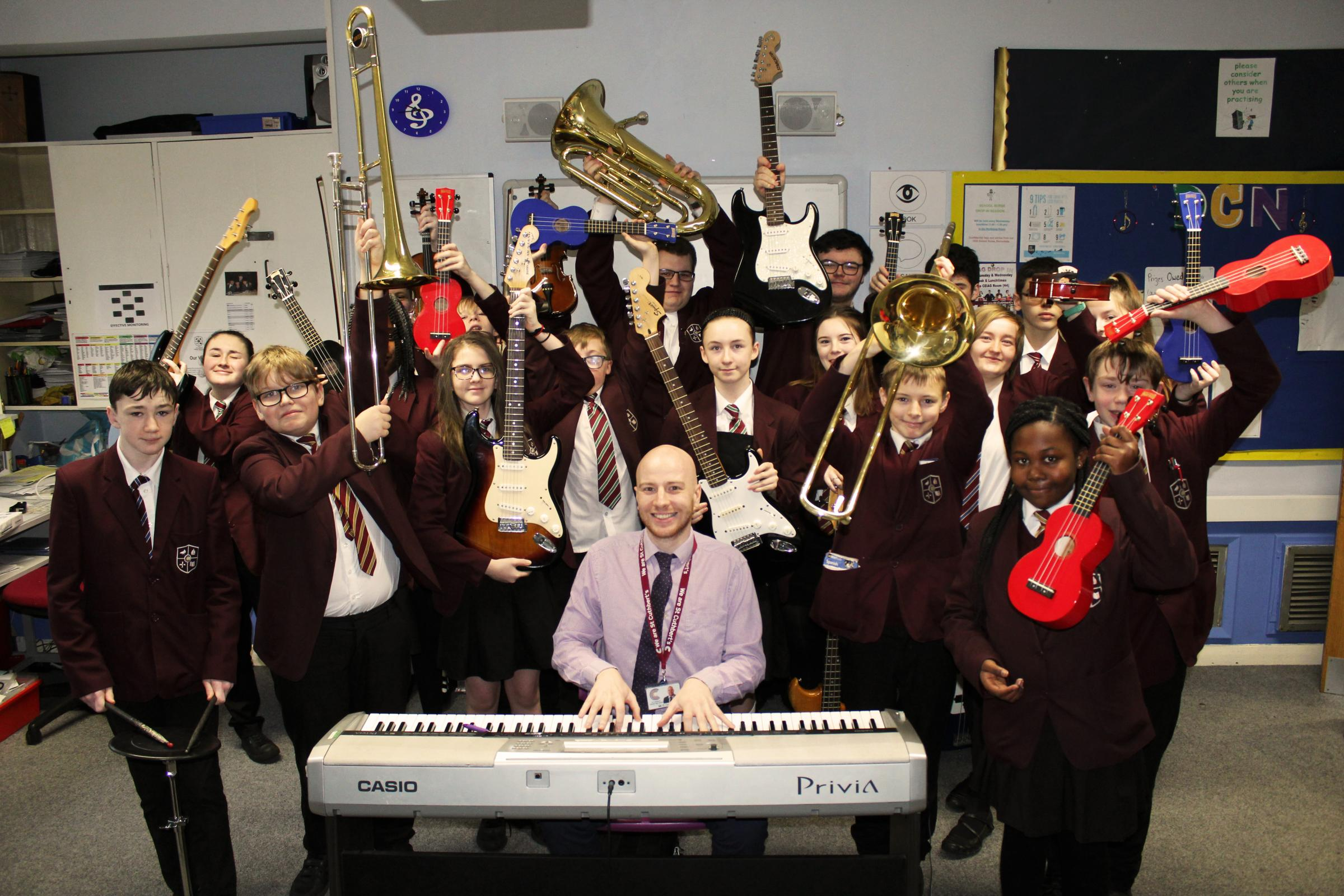 Pupils rewarded for hitting the high notes