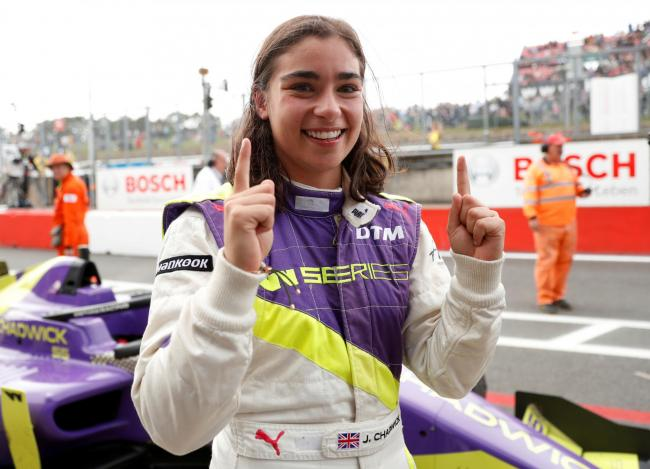 Jamie Chadwick was crowned the inaugural W Series champion in 2019 © Reuters