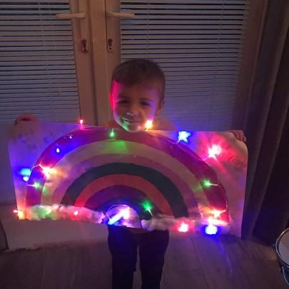 Thomas's rainbow aged 4, definitely will be putting smiles all around 🌈😁