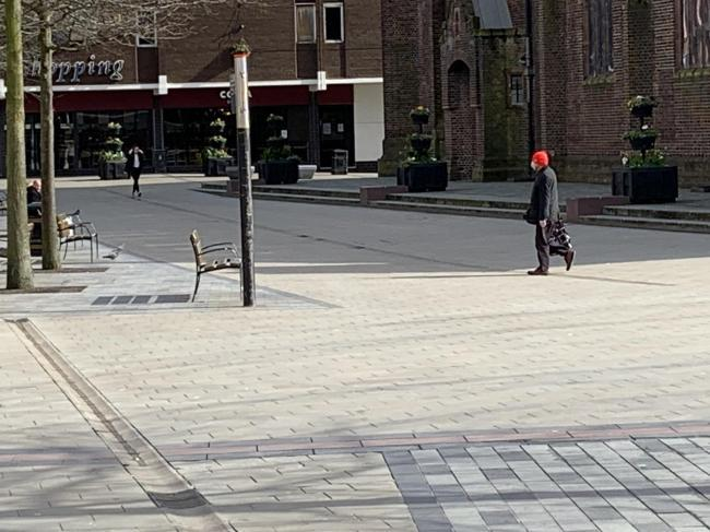 St Helens town centre has been noticeably quieter in recent days
