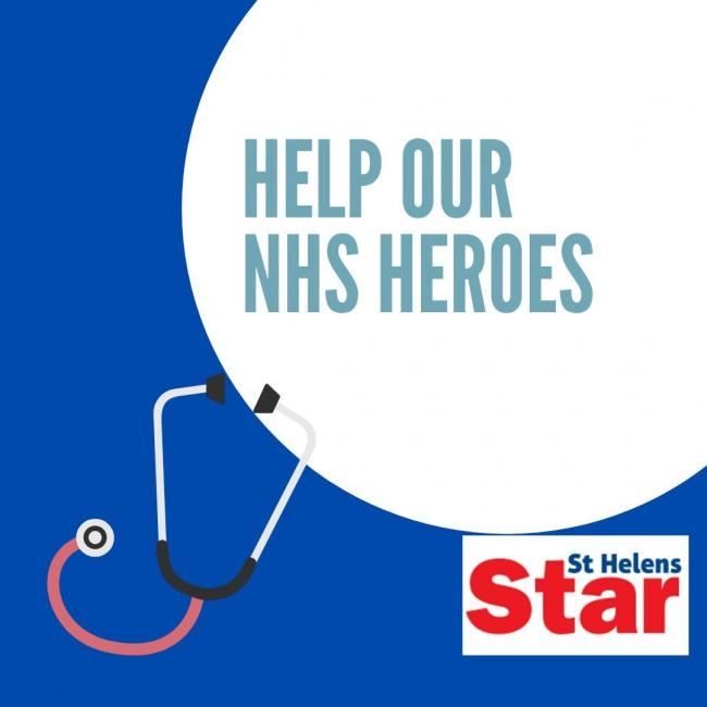 Star appeal: Help us raise money for St Helens NHS heroes