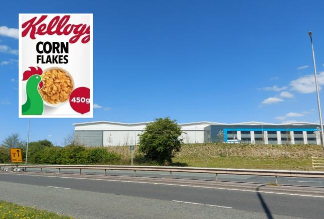 Kellogg's has taken the massive warehouse off the East Lancs near junction 23 of the M6