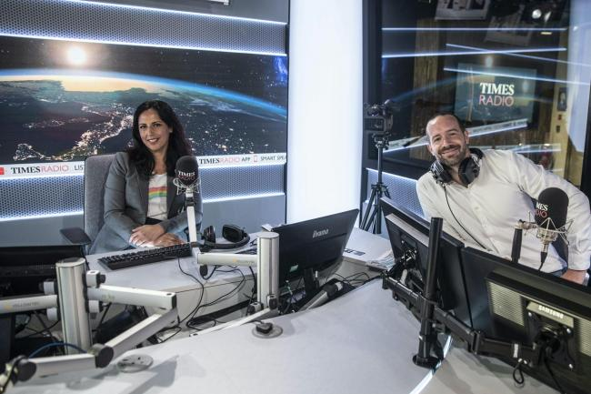 Times Radio broadcasters Aasmah Mir and Stig Abell