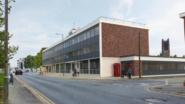 Artist's impression of how the Crown Building will look