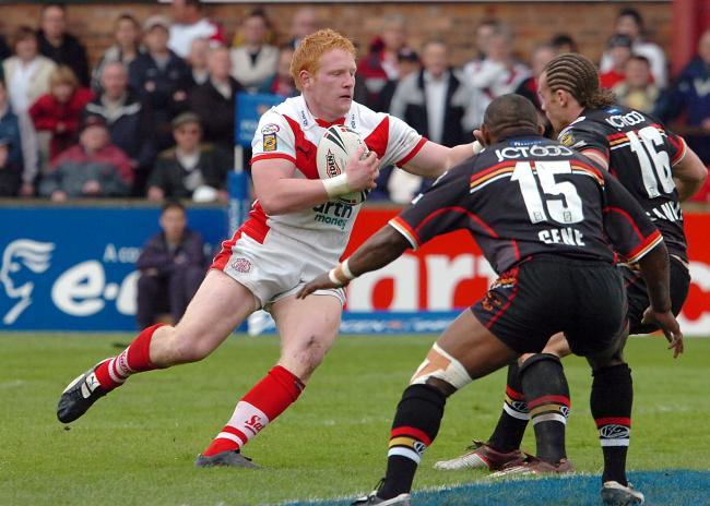 James Graham leads the way first time around for St Helens. Picture: Bernard Platt