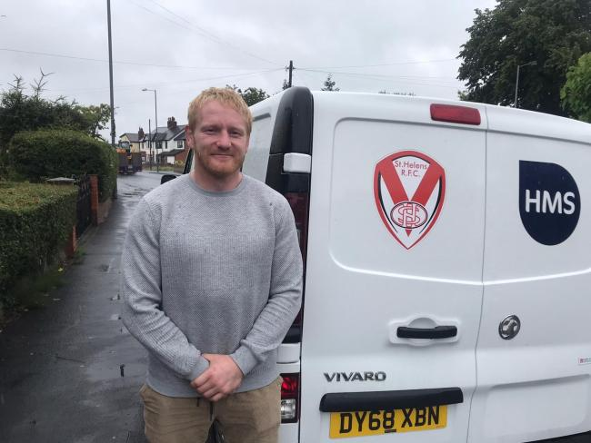 He's back! James Graham returned to a wet and windy UK from Australia on Tuesday