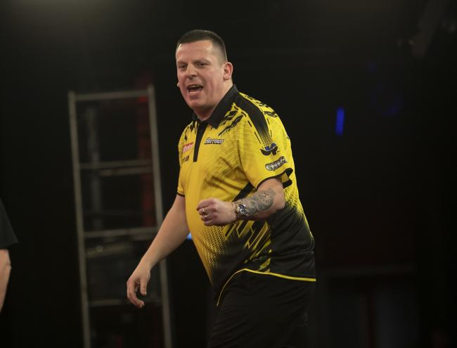 Dave Chisnall was beaten in the final on day two of the PDC Summer Series. Picture: Lawrence Lustig