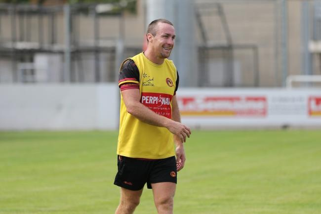 James Maloney in training with Catalans Dragons. Picture: Laurent Selles/Catalans Dragons via SWpix.com
