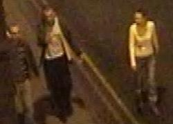 Police want to speak to these two men and one woman in connection with the assault.