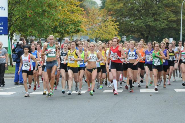 The start of the women's race at a previous Northern Athletics Road Relays event. Picture: Dave Gillespie