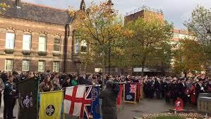 A previous Remembrance Sunday event in St Helens town centre