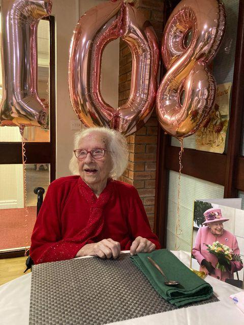 Celebrations in care home for gran - on her 108th birthday