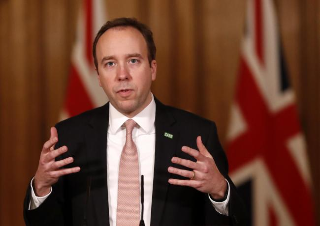Matt Hancock urges people to stay at home and reduce all unnecessary social contact (Image: PA)