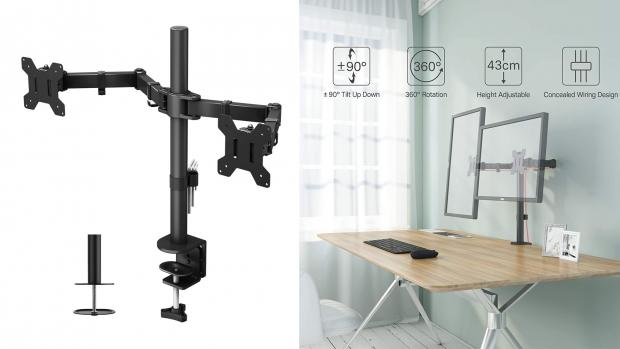 St Helens Star: A monitor arm to adjust your screen position freely Credit: Amazon