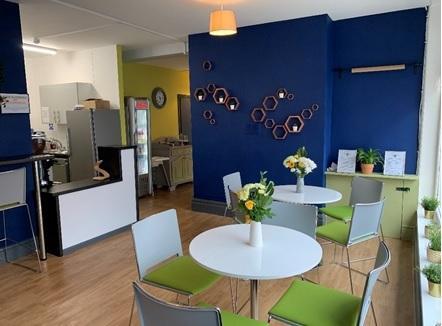 Inside Plan Bee Coffee Shop