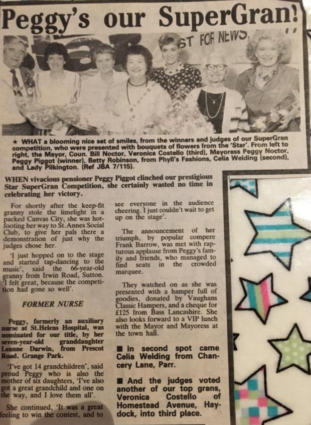 St Helens Star: The SuperGran Star cutting from 1988