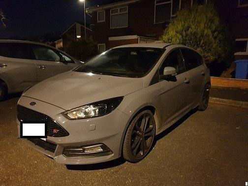 The stolen car has been seized by police