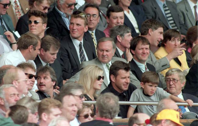 Royal Box at the old Wembley at the Rugby League Challenge Cup Final, between Bradford Bulls and St Helens on this day in 1997. Photo: PA