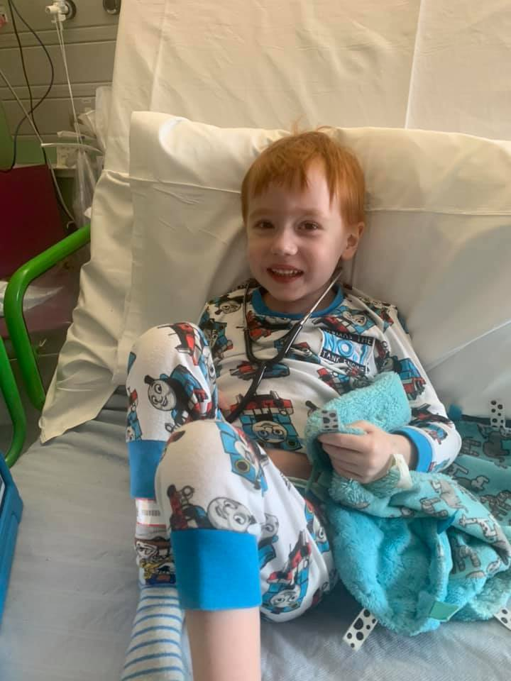 Jake was in hospital fighting for his life at Christmas
