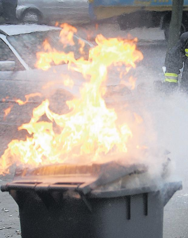 St Helens Star: Up in flames: St Helens Council is losing £50,000 every year to replace stolen or burned out wheelie bins