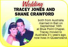 TRACEY JONES AND SHANE CRAWFORD