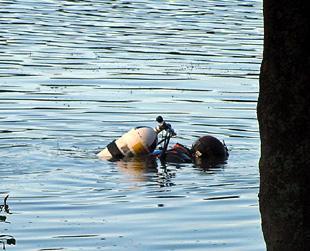 Police divers in lake hunt for murder gun   St Helens Star